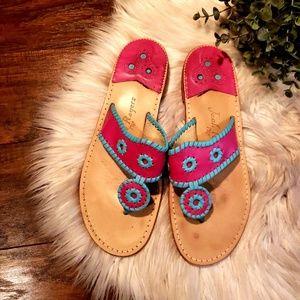 Jack Rogers Pink & Blue Sandals